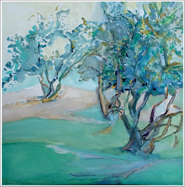 Geneviève Gossot-Etude sur le jardin