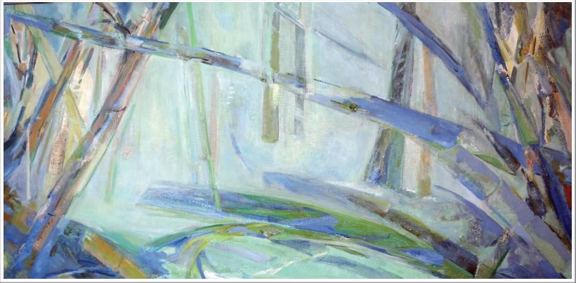 Peinture à l'huile sur toile - caisse